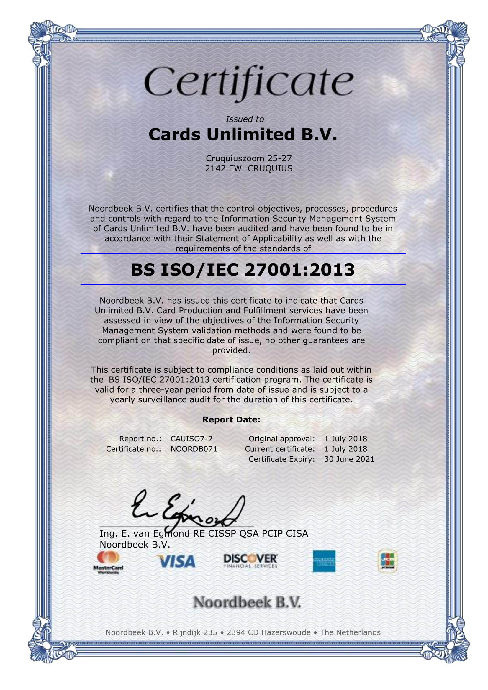 Certificate Cards Unlimited B.V.