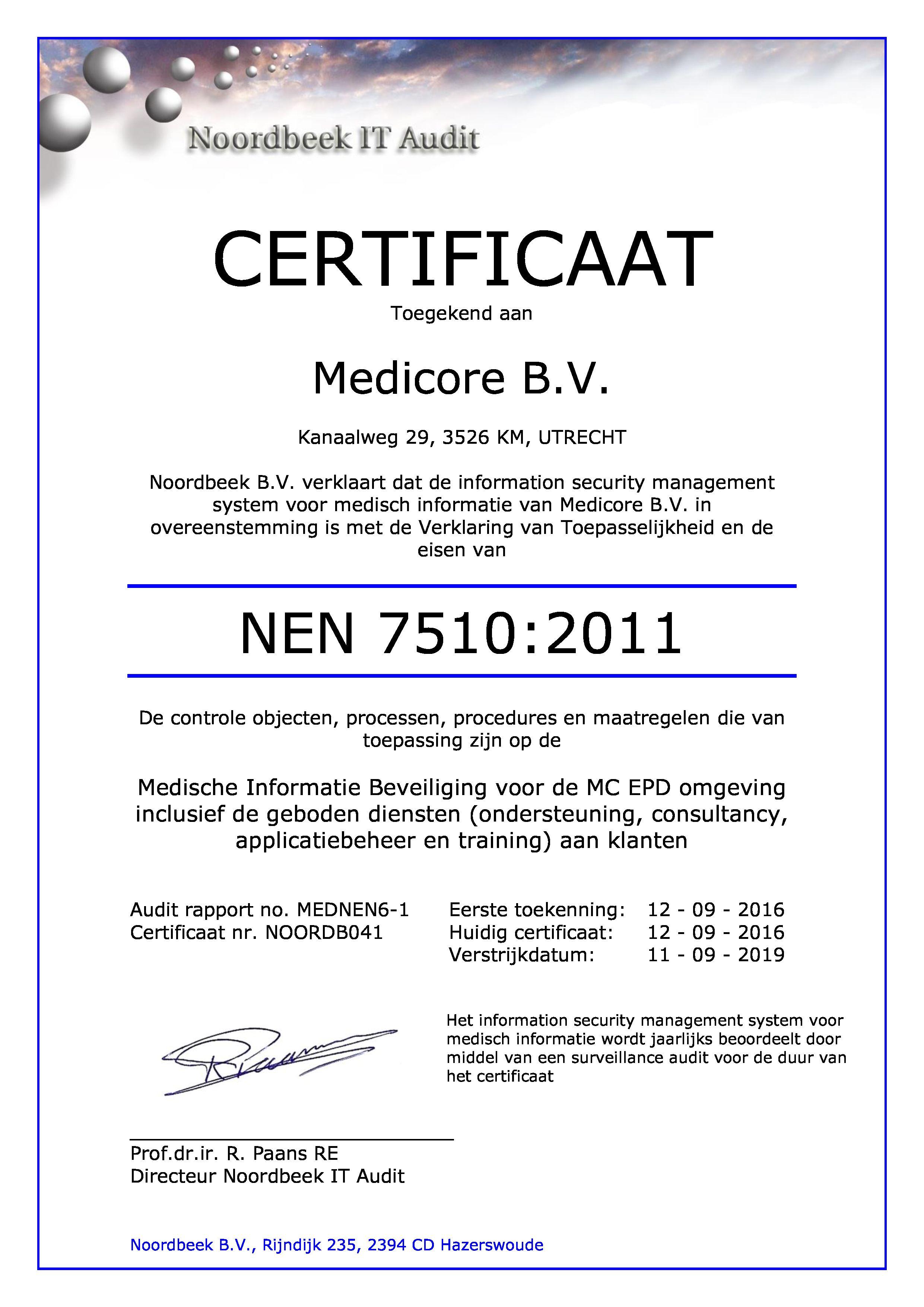 Certificate Search - Noordbeek - IT Audit, Compliance & Advisory