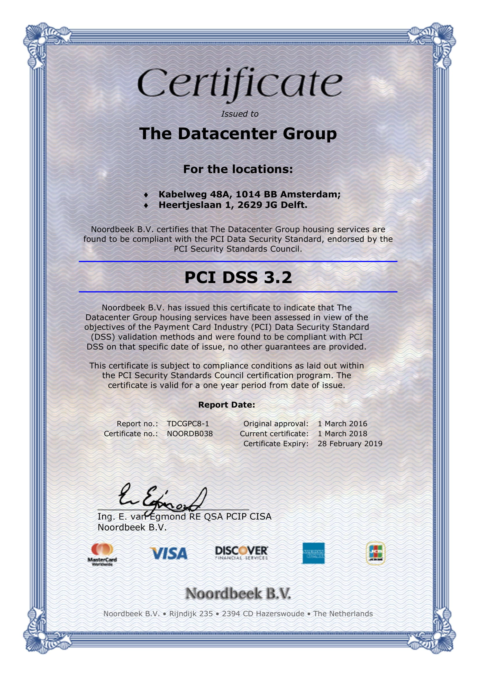Certificate The Datacenter Group