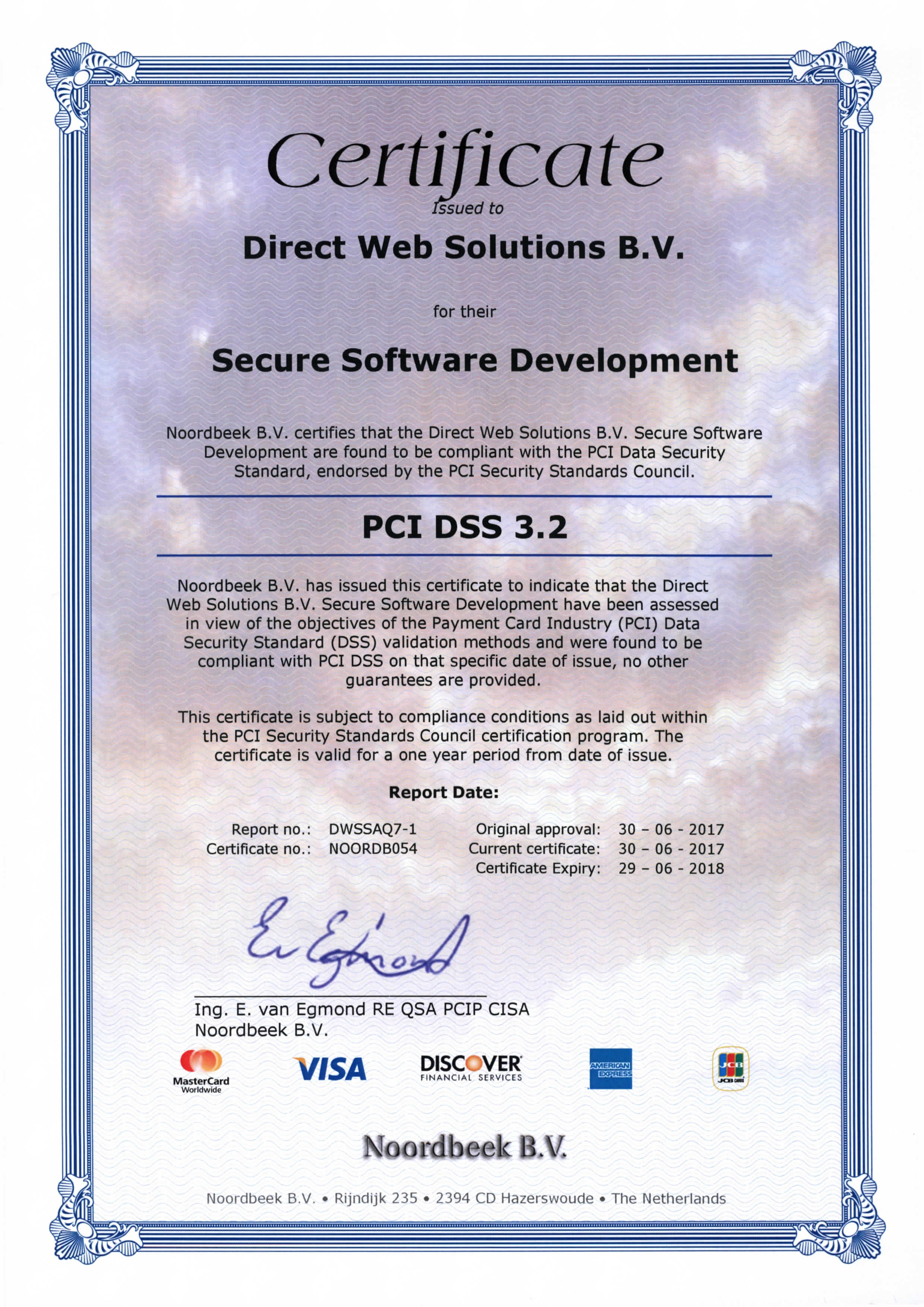 Certificate Direct Web Solutions B.V.